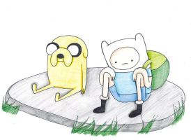 Jake the Dog and Fin the Human by Xx1NF3CKT3DxX