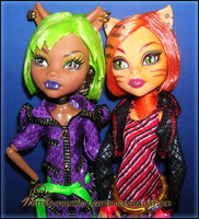 clawdeen wolf and Toralei by princesitagotica