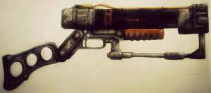 Fallout Laser Rifle by GinnieGii