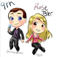 Doctor Who - 9th and Rose Tyler by VTthisgamerdraws