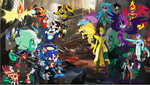 Sonic and co vs Midnight sparkle and major villans by pokekid333