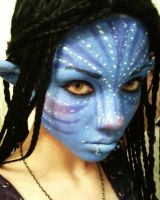 Neytiri Cosplay Makeup Test by UndercoverEnvy