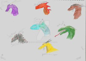 The Seven Deadly Dragons by spotnick97