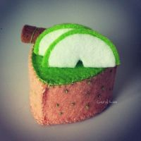 Green Apple Mousse Cake by bibiluv