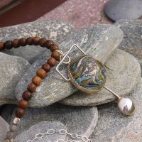 Balanced Earth Necklace by BOXCJewelry