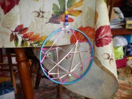 Homemade dream catcher by LainaInverse