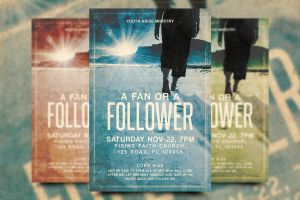 Fan or Follower Church Flyer Template by Junaedy-Ponda
