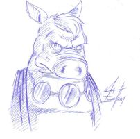 Cerebus Bust by Cyber-Kun