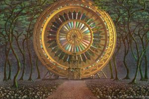 Wheel Temple in a Forest by nahojis