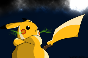 Shiny Pikachu by AnimeJustin
