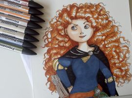Merida (blue dress) by Elliepamp