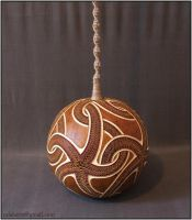 Hanging gourd lamp III - day 1 by Calabarte