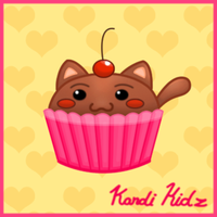 Cup Cake Kitty by Kandi-Kidz