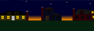 Suburbs During Dusk: Colored by Nosh59