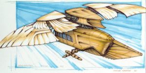 ornithopter sketch by strib