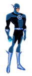 Blue Lantern Flash DCAU style by Azraeuz