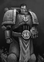 Space marine commander by FonteArt