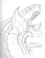 Bahamut - Sketch by BetrayedAnguish