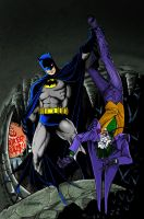 Batman and Joker by jovigolf