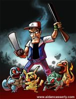 ASH vs ARMY OF POKEMON print by DadaHyena