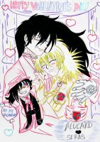 VDAY Entry: Alucard and Seras by keyko020988