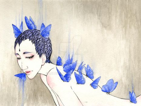Forget-me-not by lululinart