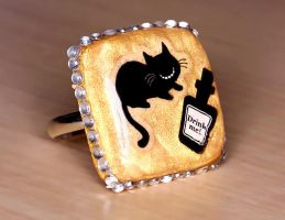 Cheshire Cat Ring 2 by xLilithScreamx