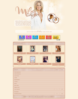 Miley Cyrus Coppermine Theme by unbrokengraphics