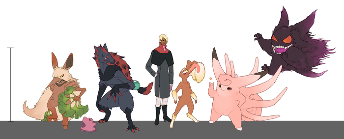 Rann - pokemon AU team by umbbe