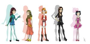 PnF: Girls by HelenFlame