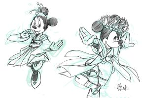 Soryo Kobu Mickey Minnie by soggymuffinhead