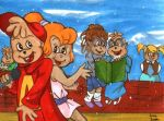 Chipmunks and Chipettes by ninjin4ever
