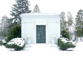 Wintery Cemetary Crypt by FantasyStock