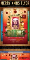Merry Christmas Flyer Template by Grandelelo