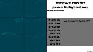 Windows 8 CP background pack by frosbe