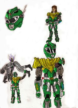 Green Ranger-Art Trade by BadDogg