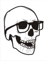 Glasses Skull by LutfiYosti