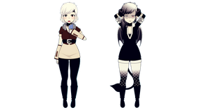 Chellie - Human form and Demon Form by Xx-Chellie-Bellie-xX