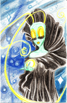 Colored Pencil Test: Universe's Mother by SkooIsCoo