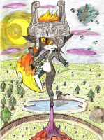 Art Trade: Midna The Lookout by Neko-Kathy