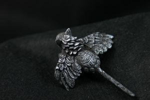 Silver winged cat by hontor