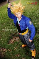 Super Saiyajin trunks cosplay by jeffbedash325