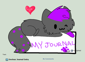 Purple and black kitty journal skin by Snowdrop-the-Kitty