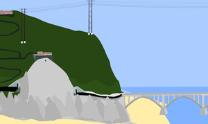 Some powerlines run though the land of money by OceanRailroader