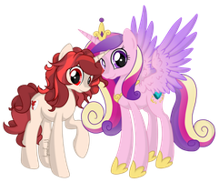 Princess Cadance and Charity (Free Request Friday) by AimeeLovesU