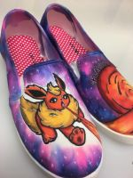 Flareon Galaxy Shoes by techn0vert