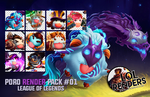 League of Legends Poro Render Pack 01 by ViciousBlue