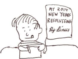 Linus writes his new years resolutions by dth1971