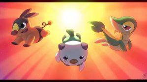 Black and White Starters - Tepig Oshawott Snivy
