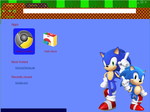 Sonic Generations Chrome theme by TornadoTasmanian